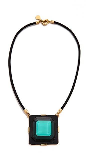 Marc by Marc Jacobs Stacked Glass Statement Pendant