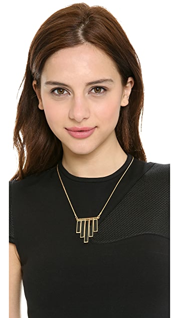 Marc by Marc Jacobs Geometric Enamel Stick Trapeze Necklace