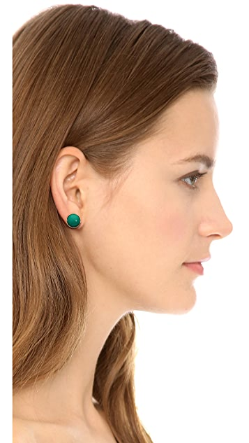 Marc by Marc Jacobs Geometic Big Dot Stud Earrings