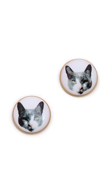Marc by Marc Jacobs Kitty Stud Earrings
