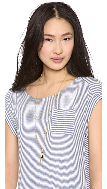 Marc by Marc Jacobs Block Figure Long Pendant Necklace