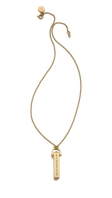 Marc by Marc Jacobs Bullet Pendant Necklace