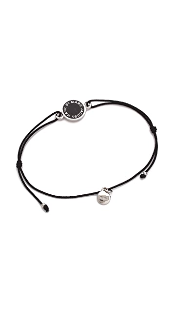 Marc by Marc Jacobs Enamel Logo Disc Friendship Bracelet
