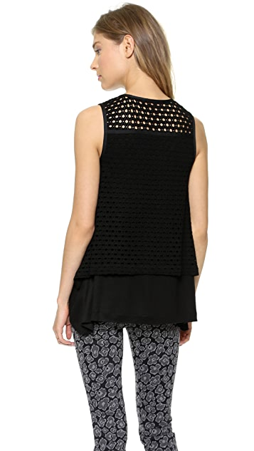 Marc by Marc Jacobs Yuki Eyelet Tank Top