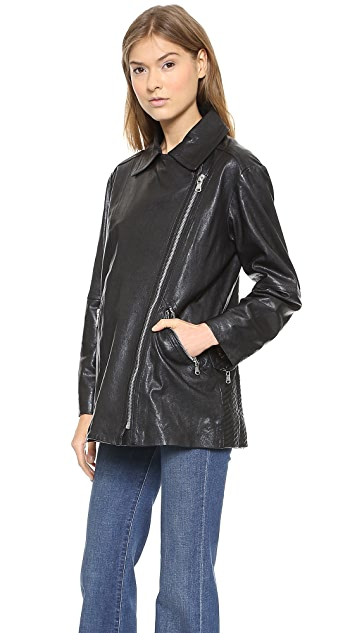 Marc by Marc Jacobs Karlie Leather Coat