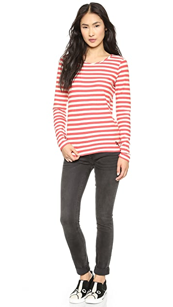 Marc by Marc Jacobs Pam Stripe Long Sleeve Tee