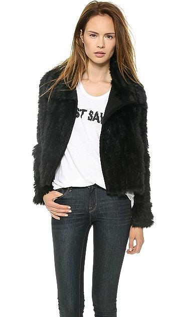 Marc by Marc Jacobs Abbey Rabbit Fur Jacket