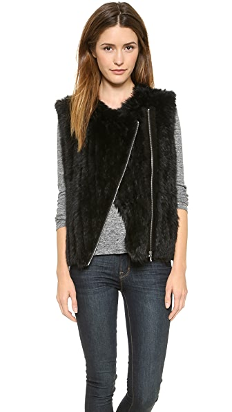 Marc by Marc Jacobs Abbey Rabbit Fur Vest
