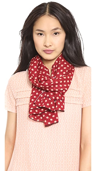 Marc by Marc Jacobs Mini Dot Print Scarf with Pop Hem