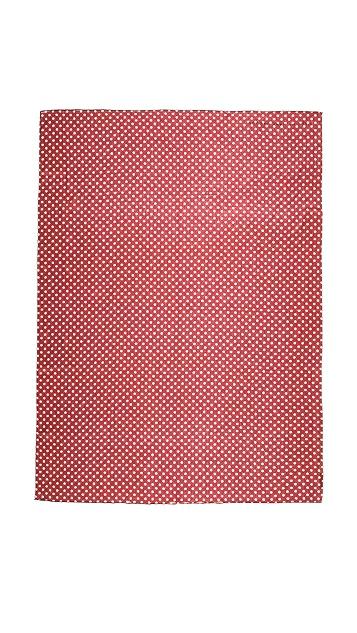 Marc by Marc Jacobs Mini Dot Print Scarf with Pop Hem
