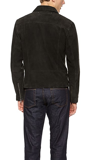 Marc by Marc Jacobs Luca Suede Moto Jacket