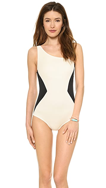 Marc by Marc Jacobs Kita Applique One Shoulder Maillot