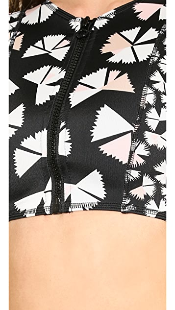 Marc by Marc Jacobs Pinwheel Cropped Scuba Bikini Top