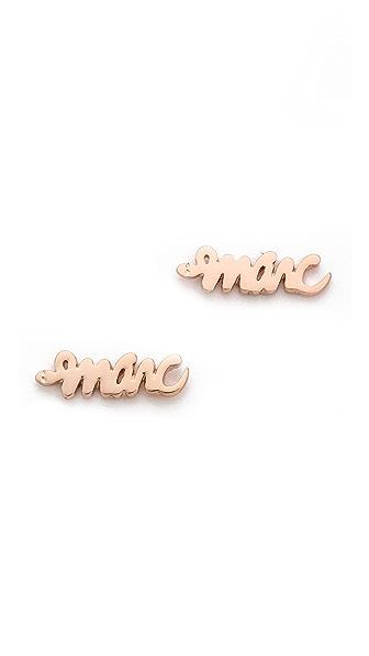 Marc by Marc Jacobs Script Snake Stud Earrings