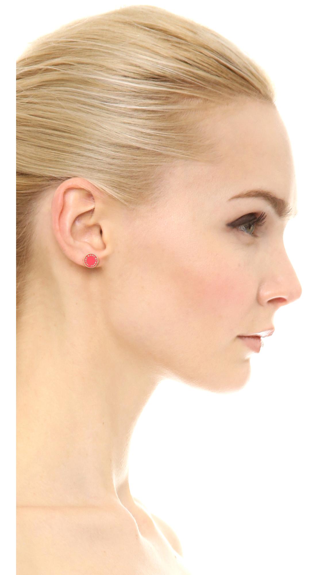 0f8f2dadb Marc by Marc Jacobs Enamel Logo Disc Stud Earrings | SHOPBOP