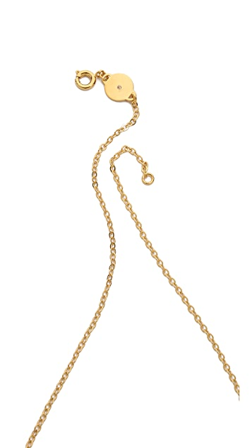 Marc by Marc Jacobs Tiny Enamel Plaque Necklace