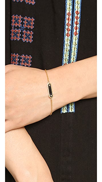 Marc by Marc Jacobs Tiny Enamel Plaque Delicate Bracelet
