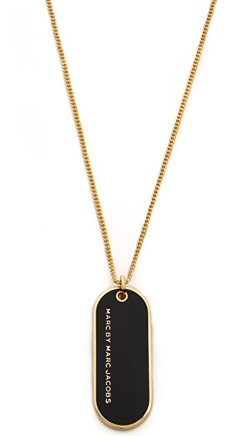 Marc by Marc Jacobs Modern Logo Pendant Necklace