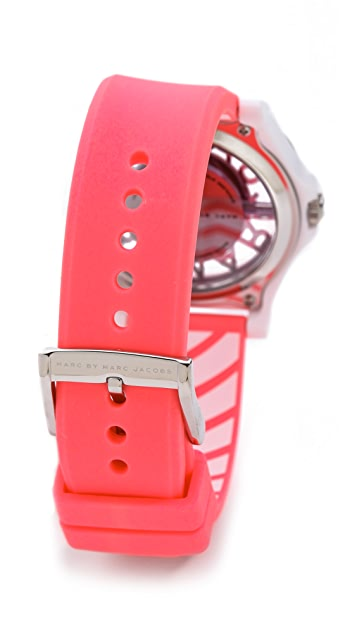 Marc by Marc Jacobs Henry Skeleton Silicone Watch