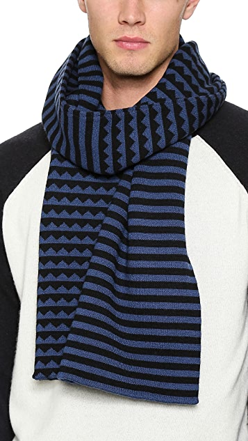 Marc by Marc Jacobs Zigzag Sweater Scarf