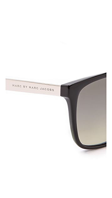 Marc by Marc Jacobs Mirrored Flat Top Sunglasses