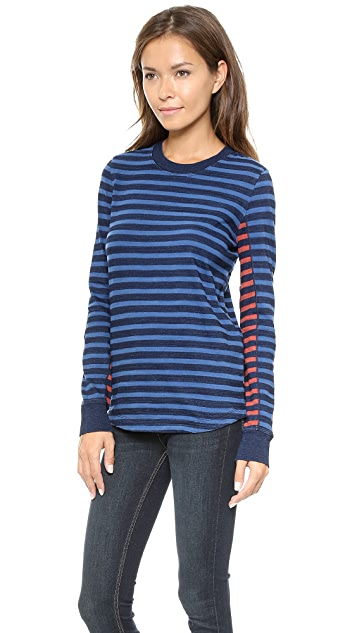 Marc by Marc Jacobs Tomiko Indigo Long Sleeve Tee