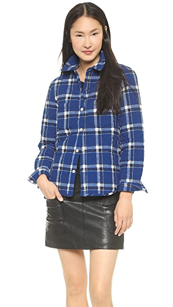 Marc by Marc Jacobs Toto Plaid Quilted Flannel Shirt