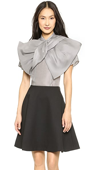 Marc by Marc Jacobs Mayu Organza Knot Detail Blouse