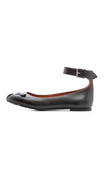 Marc by Marc Jacobs Mouse Ankle Strap Ballerina Flats
