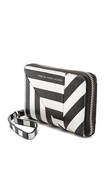 Marc by Marc Jacobs Turn Around Stripe Wingman Wallet