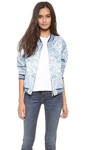 Marc by Marc Jacobs Lame Matellase Bomber Jacket