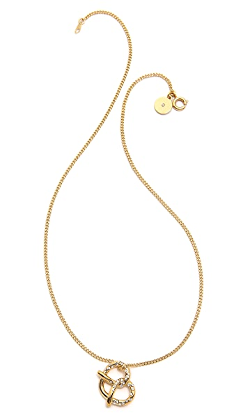 Marc by Marc Jacobs Salty Pretzel Pendant Necklace
