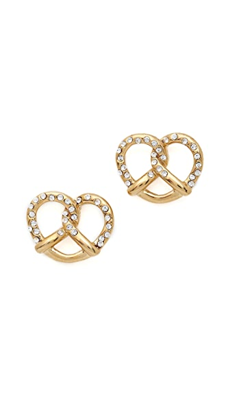 Marc by Marc Jacobs Salty Preztel Stud Earrings