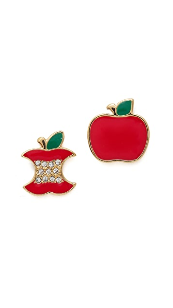 Marc by Marc Jacobs Apple Stud Earrings