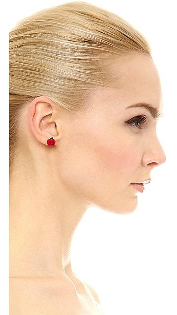 Marc by Marc Jacobs Apple Stud Earrings