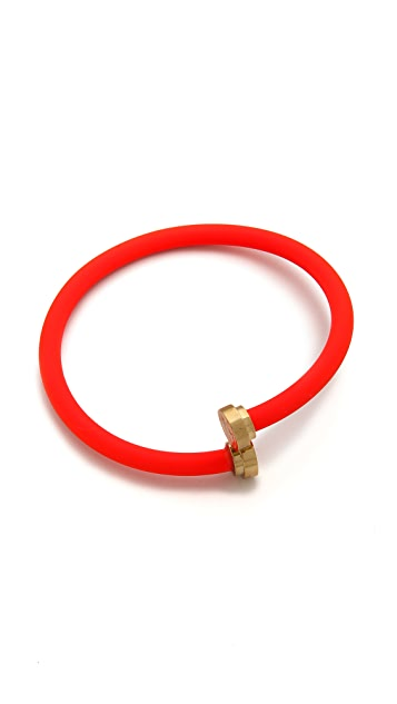 Marc by Marc Jacobs Rubberized Tubular Bangle Bracelet
