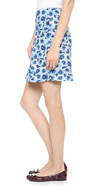 Marc by Marc Jacobs Aki Floral Crepe Skirt