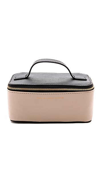 Marc by Marc Jacobs Sophisticato Colorblocked Small Travel Cosmetic Case