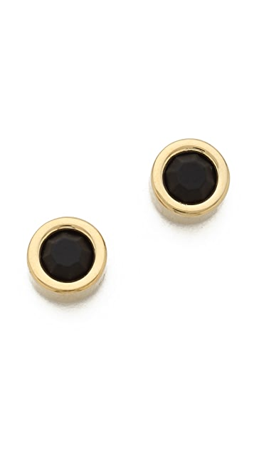 Marc by Marc Jacobs Tiny Rubberized Circle Studs