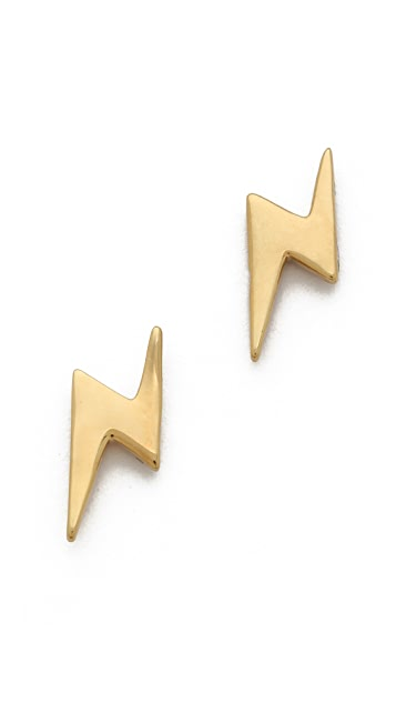 Marc by Marc Jacobs Metal Bolt Stud Earrings