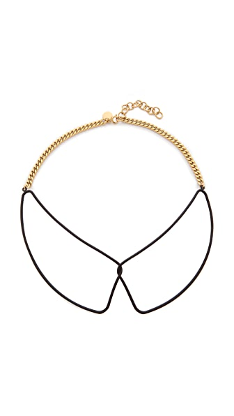 Marc by Marc Jacobs Rubberized Wire Frame Collar Necklace