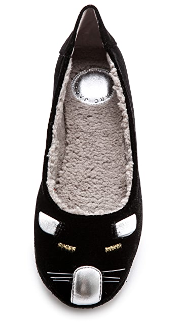 Marc by Marc Jacobs Galaxy Sherpa Lined Mouse Slippers