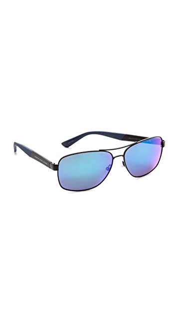 Marc by Marc Jacobs Square Aviator Mirrored Sunglasses