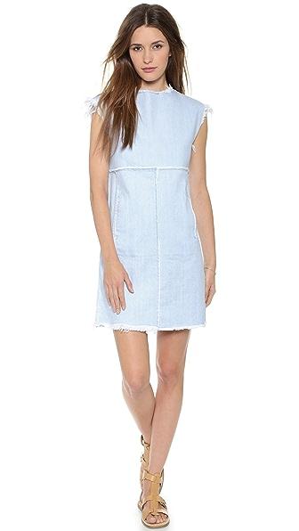 Kupi Marc by Marc Jacobs online i prodaja Marc By Marc Jacobs Frayed Denim Dress Sunbleached haljinu online