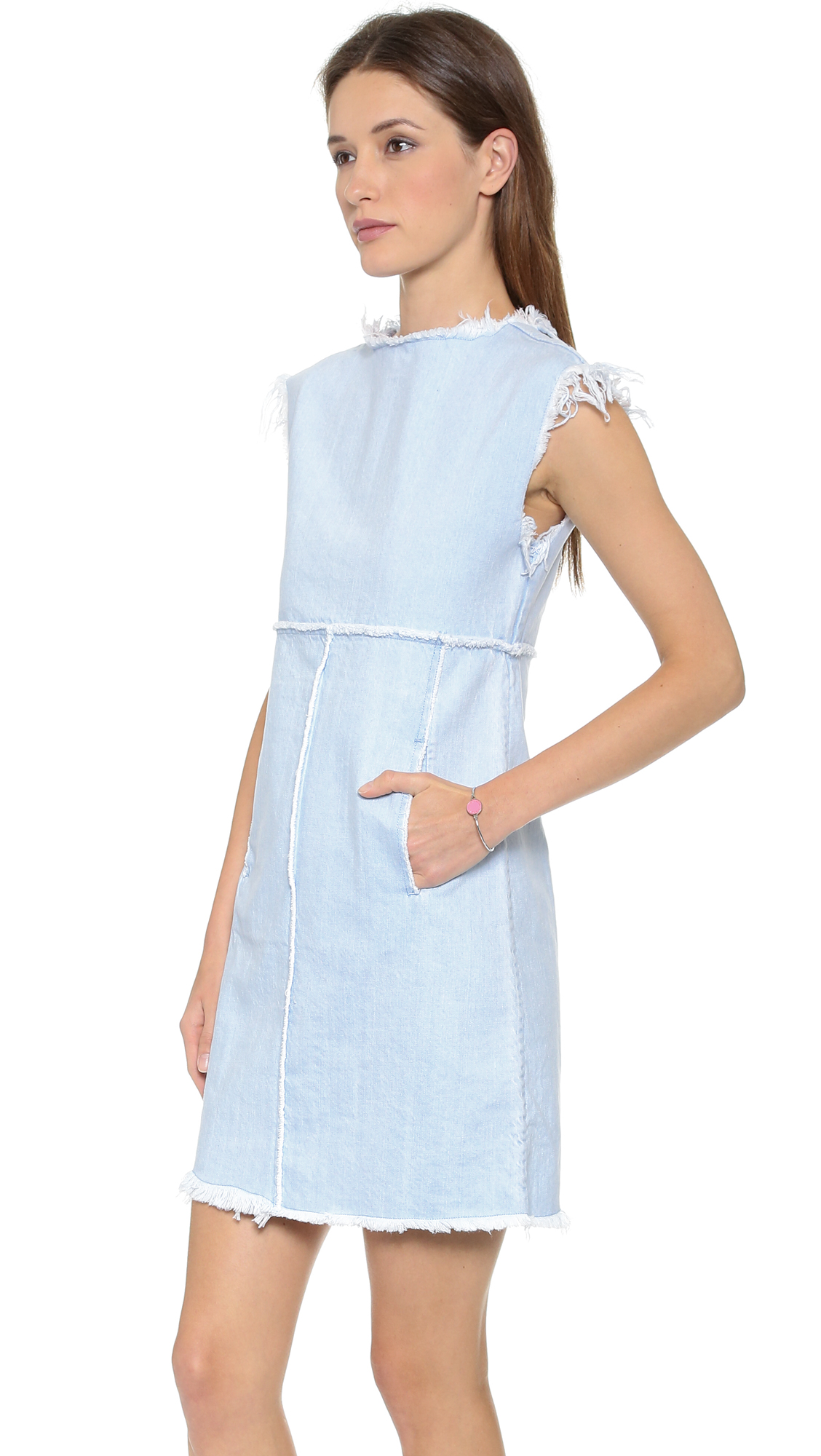 bc2bfbbe86 Marc by Marc Jacobs Frayed Denim Dress