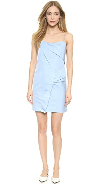 Shop Marc by Marc Jacobs online and buy Marc By Marc Jacobs Fold Drape Dress Cloud Blue online store