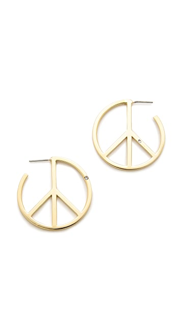 Marc by Marc Jacobs Peace Out Hoop Earrings