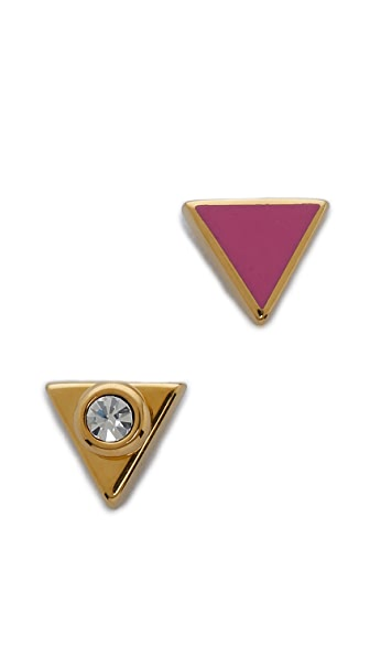 Marc by Marc Jacobs Triangle Stud Earrings