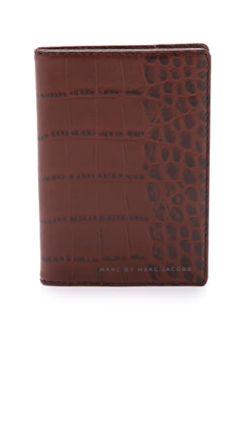 Marc by Marc Jacobs Embossy Croc Passport Holder