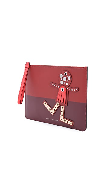 Marc by Marc Jacobs Screw'd Up Faces Chica Zip Pouch